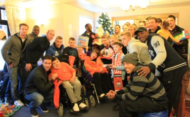 Blackpool FC meeting some Brian House patients