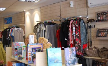 Inside Trinity Cleveleys charity shop